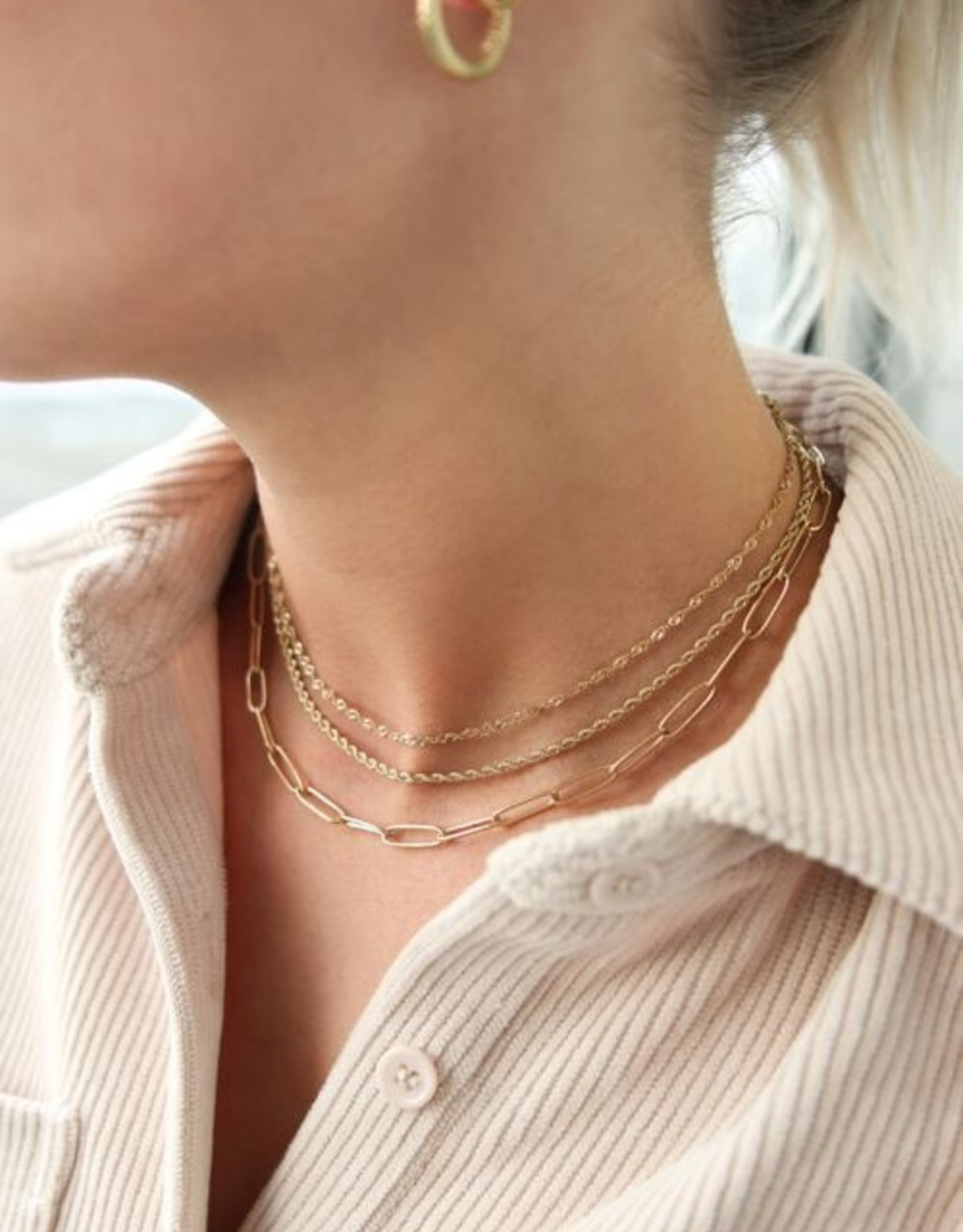 My Jewelry Ketting fijne schakels middellang-silver