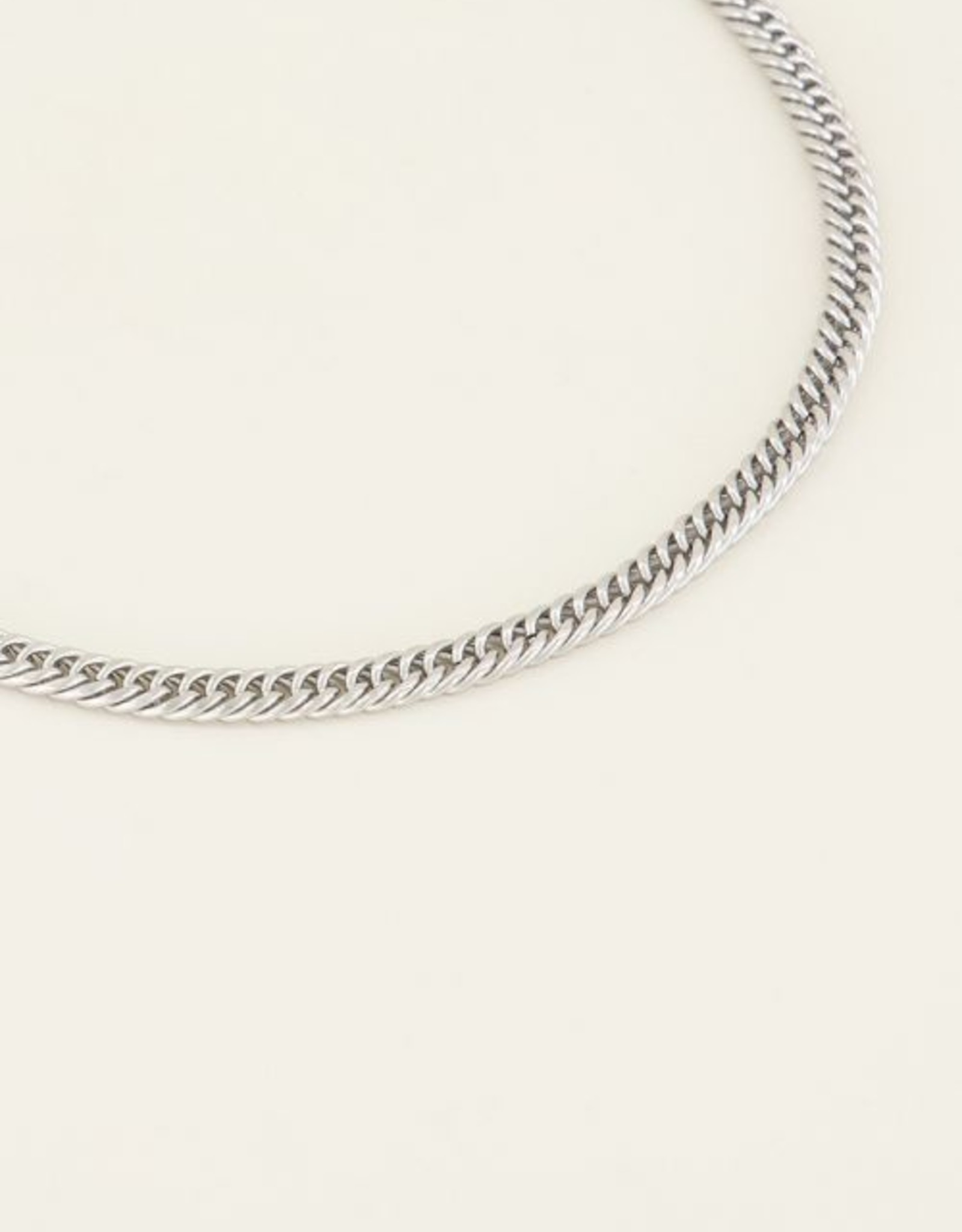 My Jewelry Ketting brede schakels-silver