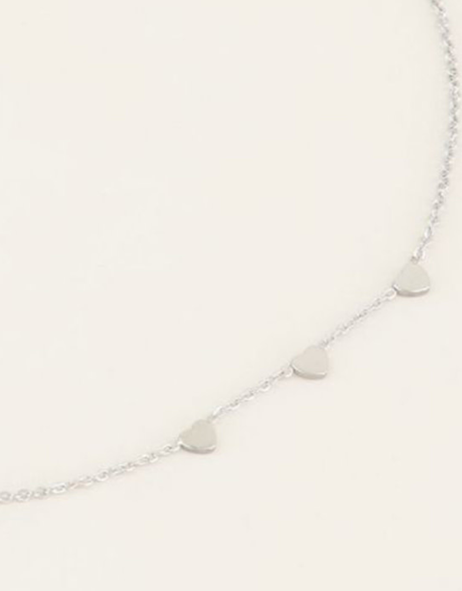 My Jewelry Ketting 3 Little Hearts-silver