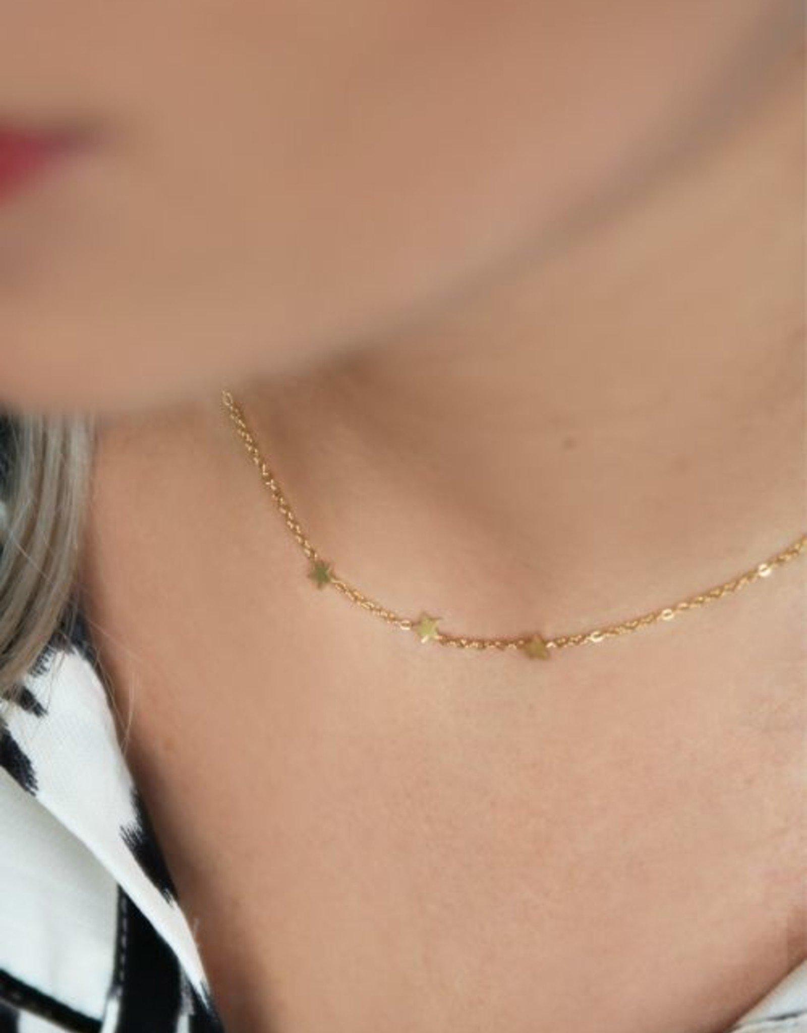 My Jewelry Ketting 3 Little Stars-silver