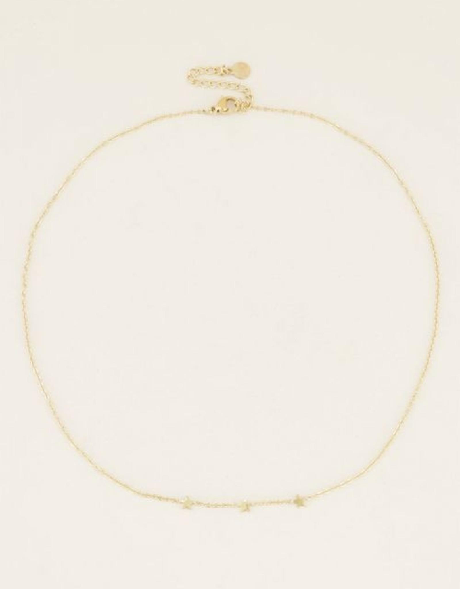 My Jewelry Ketting 3 Little Stars-gold