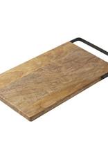 Serveerplank met handvat-mango wood/black