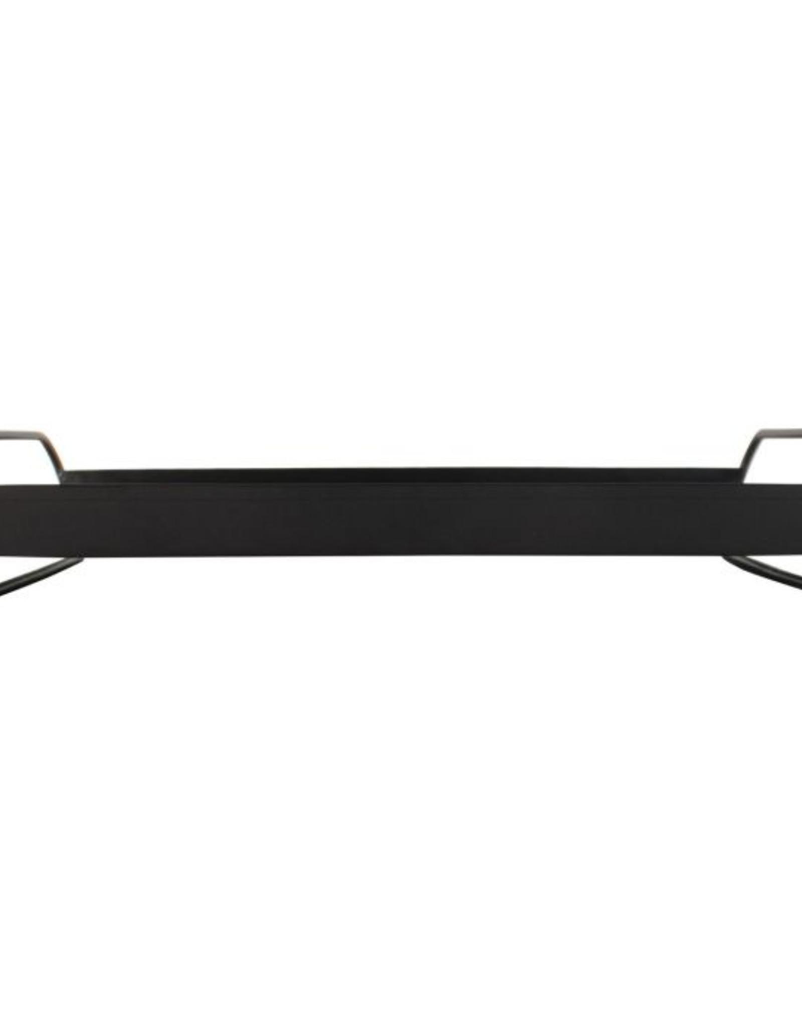 Dienblad metaal 38x28cm-black
