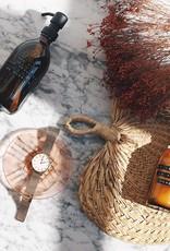 Wellmark Handzeep bruin glas /zwarte pomp 250ml-you look awesome