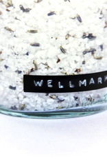 Wellmark Badzout helder glas /messing lavendel 500ml-me time