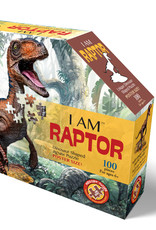Puzzel I'am Little Dino Raptor 5jaar-100pcs.