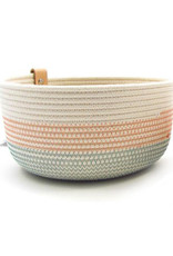 Koba Handmade Bowl Large High-turquoise salmon 25x12cm