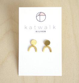 Katwalk Silver Oorbellen Dangle Arch-gold