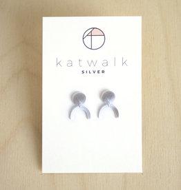Katwalk Silver Oorbellen Dangle Arch-silver