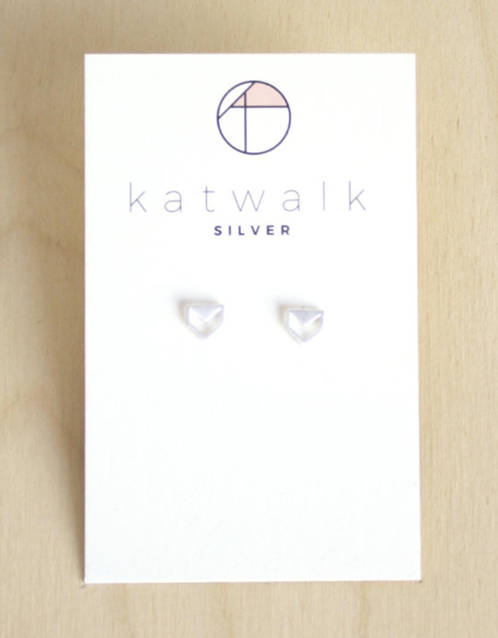 Katwalk Silver Oorbellen Studs Arrow Open-silver