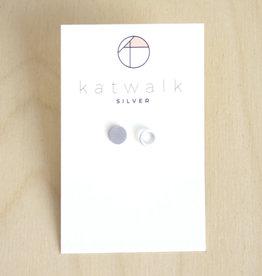 Katwalk Silver Oorbellen Studs Circle Open Full-silver