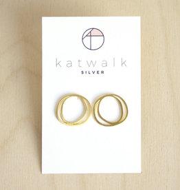Katwalk Silver Oorbellen Studs Circles Organic-gold