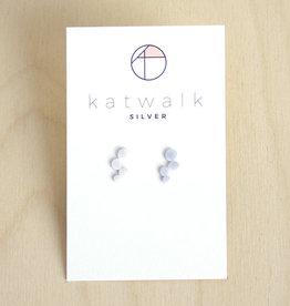 Katwalk Silver Oorbellen Studs Dots Cloud-silver