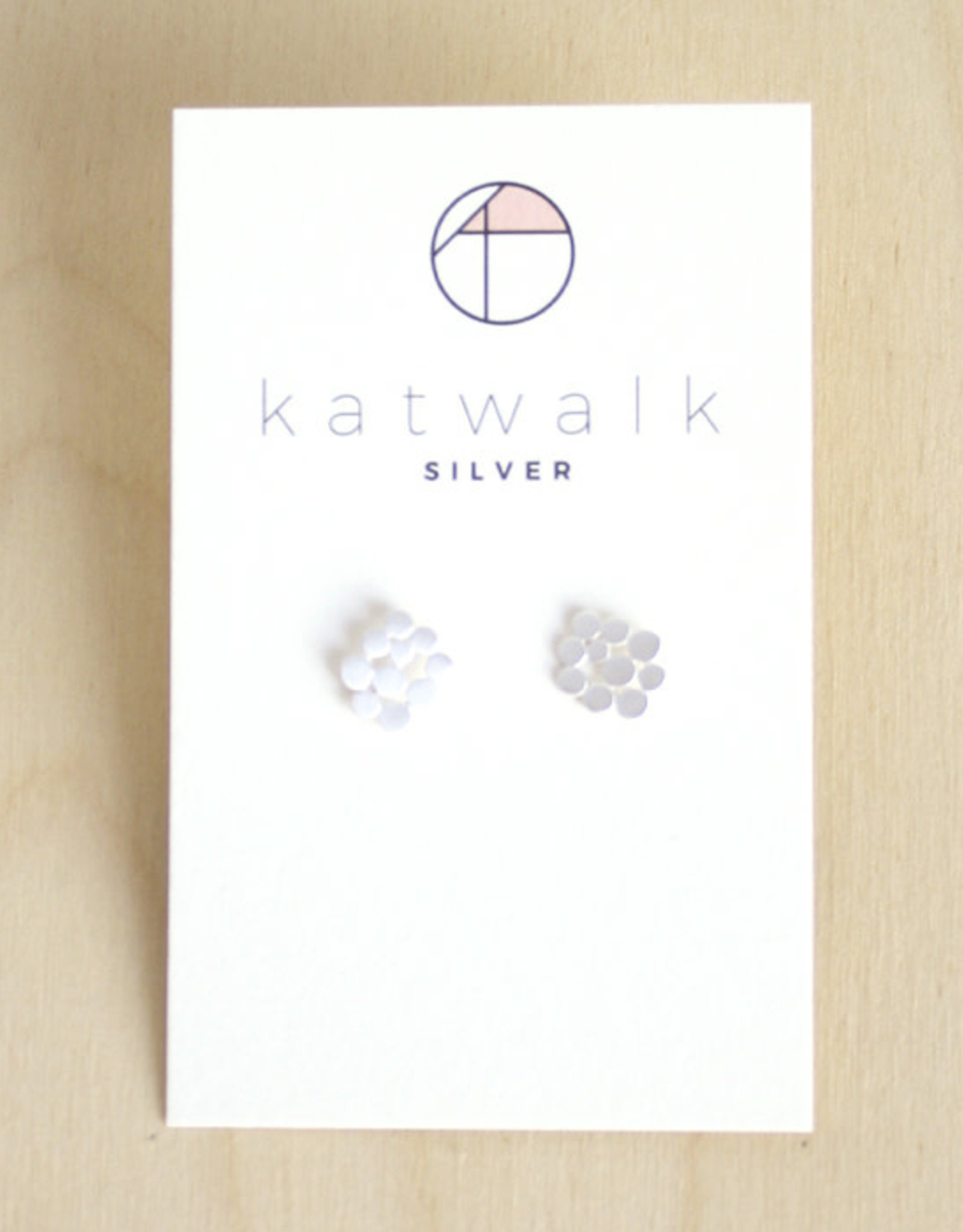 Katwalk Silver Oorbellen Studs Dots Connect-silver