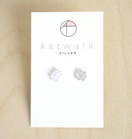 Katwalk Silver Oorbellen Studs Dots Connect-silver