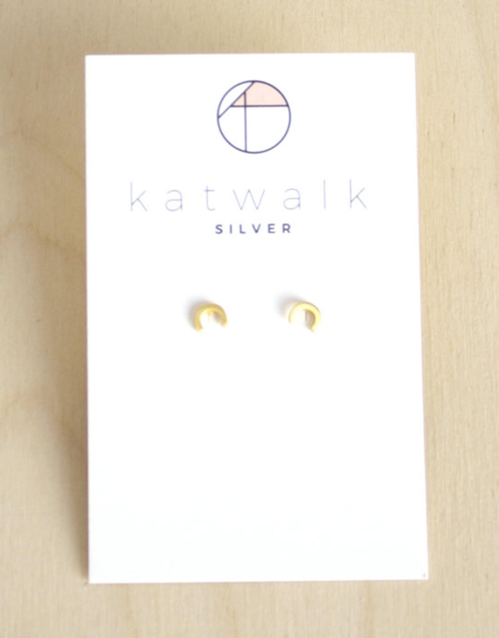 Katwalk Silver Oorbellen Studs Little Arch-gold