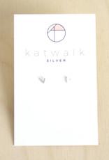 Katwalk Silver Oorbellen Studs V-silver