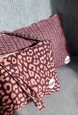 Happy Bag Clutch-herringbone burgundy/pink