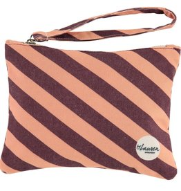 Happy Bag Clutch-stripes burgundy/pink