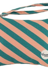 Happy Bag Clutch-stripes green/pink