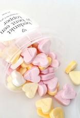 Snoephartjes-Adem hartjes in en kusjes uit