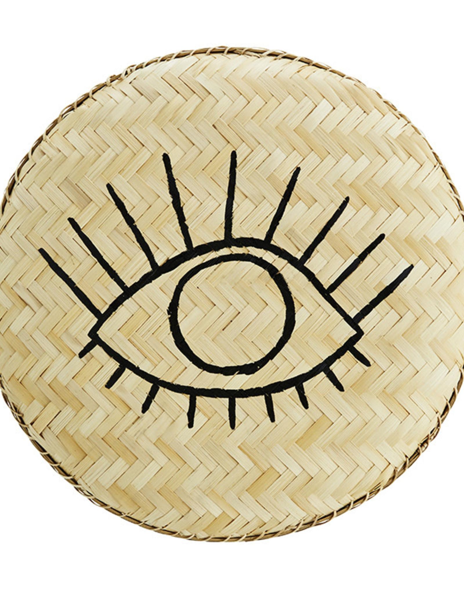 Madam Stoltz Bamboo Tray Eye 40cm-natural