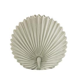 Madam Stoltz Vaas Leaf Stoneware-off white
