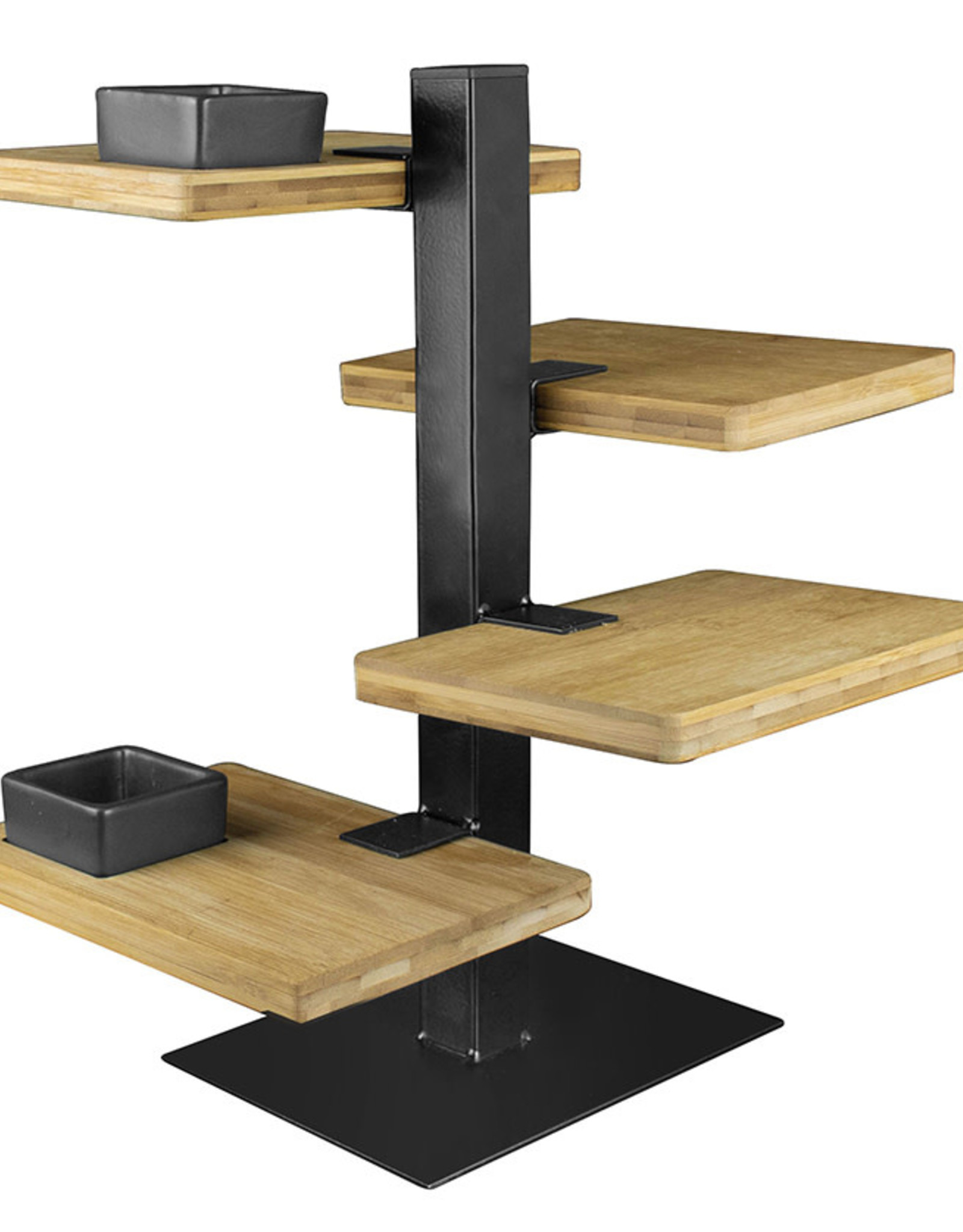 Serveerset Tower 20x15x36cm-metal/wood