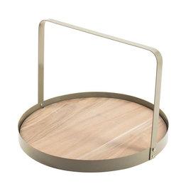 Serveertray Bamboe ø35cm-beige/metal