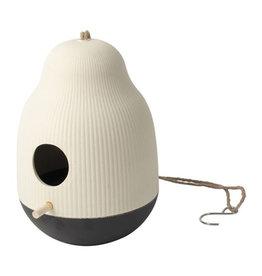 Vogelvoederhuisje ø18x25cm-wit/zwart
