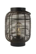 Lantaarn Rotan met LED ø17cm-black