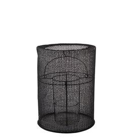 Lantaarn katoen M ø20x29cm-zwart