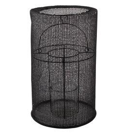 Lantaarn katoen XL ø29x46cm-zwart