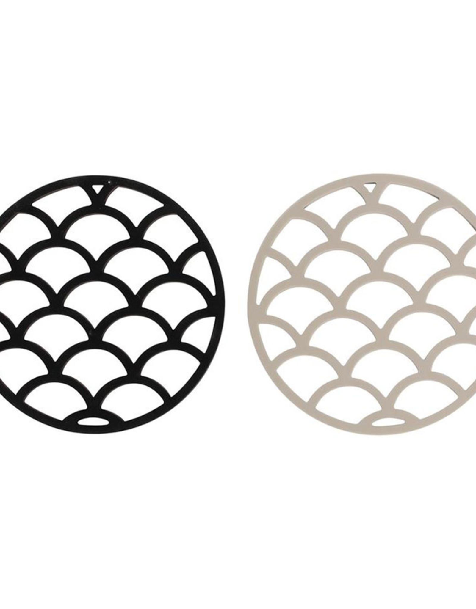 Onderzetter SET Pine-black/taupe silicone