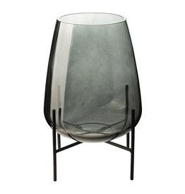 Vaas met standaard ø19cm-green/glas