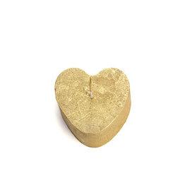 Rustik Lys Candles heart 8x5,5cm-gold