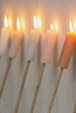 Rustik Lys Fakkel Candle-gold