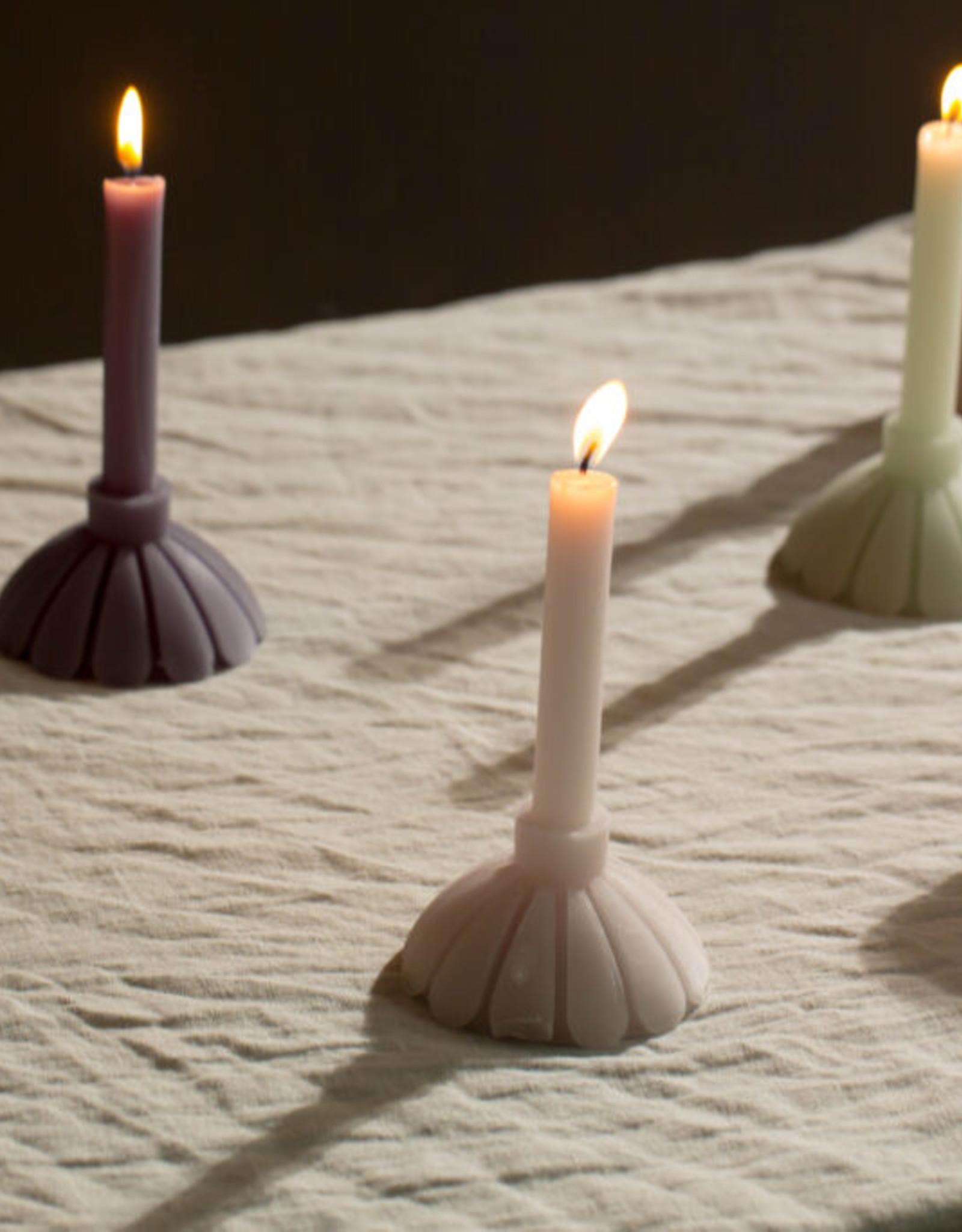 Rustik Lys Candle Sculpture Petal-sand