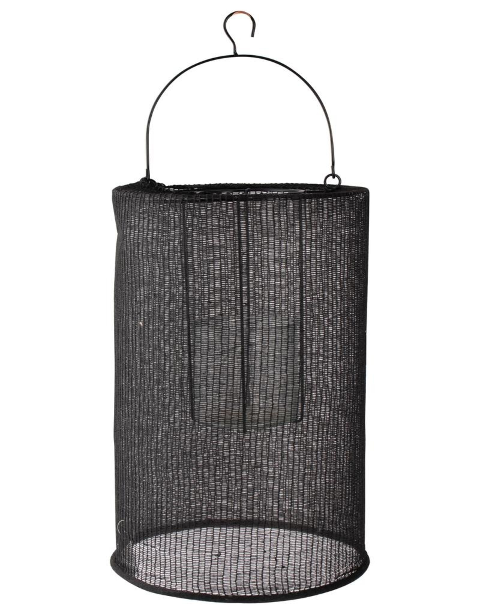 Lantaarn katoen L ø24x36cm-zwart