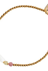 Jules Bean Armband Collectabean Savane-Hematite/Dalmatier Jaspis/Pearl/Jade