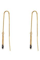 Jules Bean Oorbellen Threader Jane-gold/Jaspis