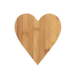 Räder Serveerplank Heart Bamboo 20x18cm-naturel