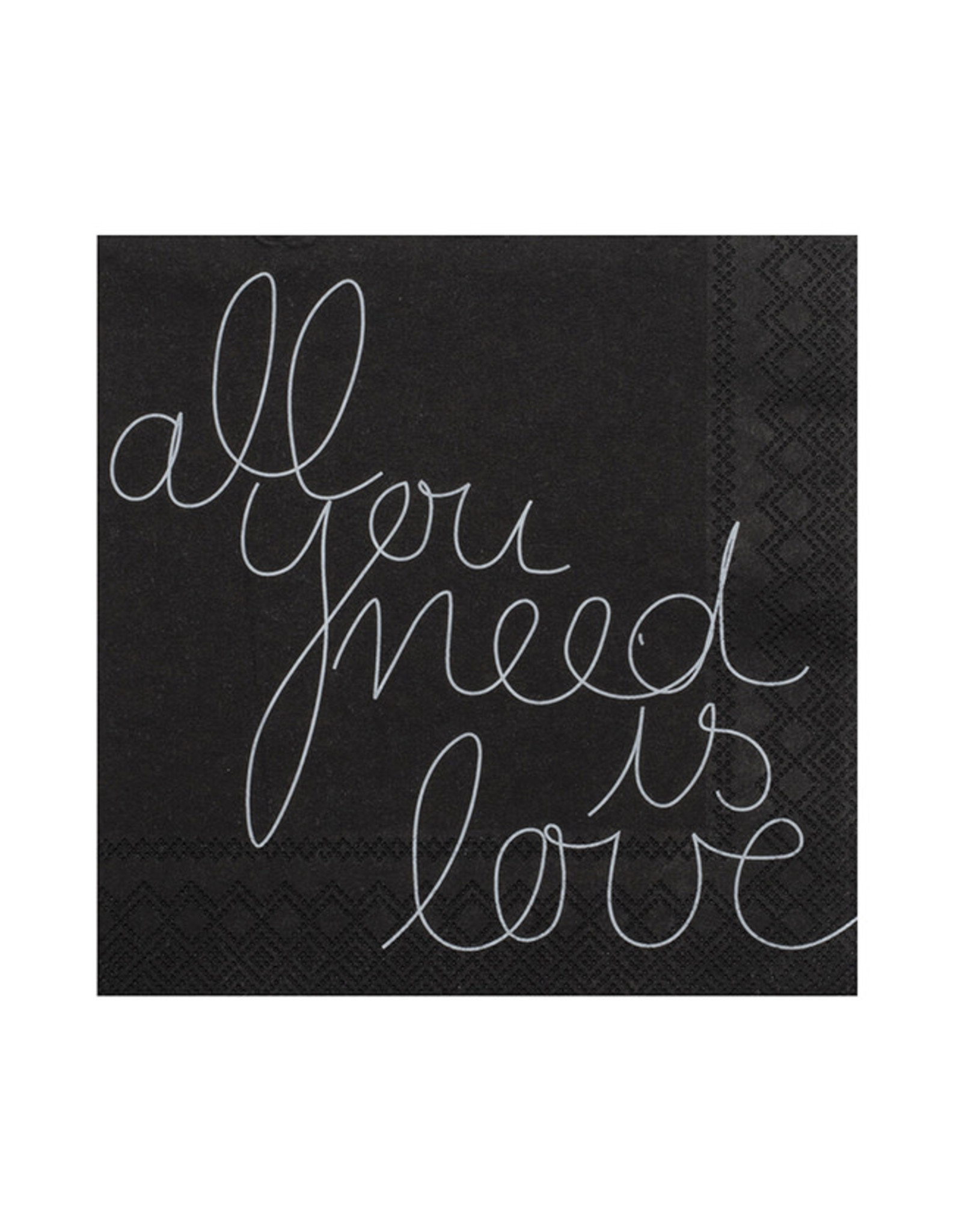 Räder Servet 25x25cm-All you need is love