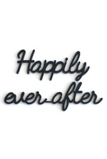 Goegezegd Quote Happily ever after-black