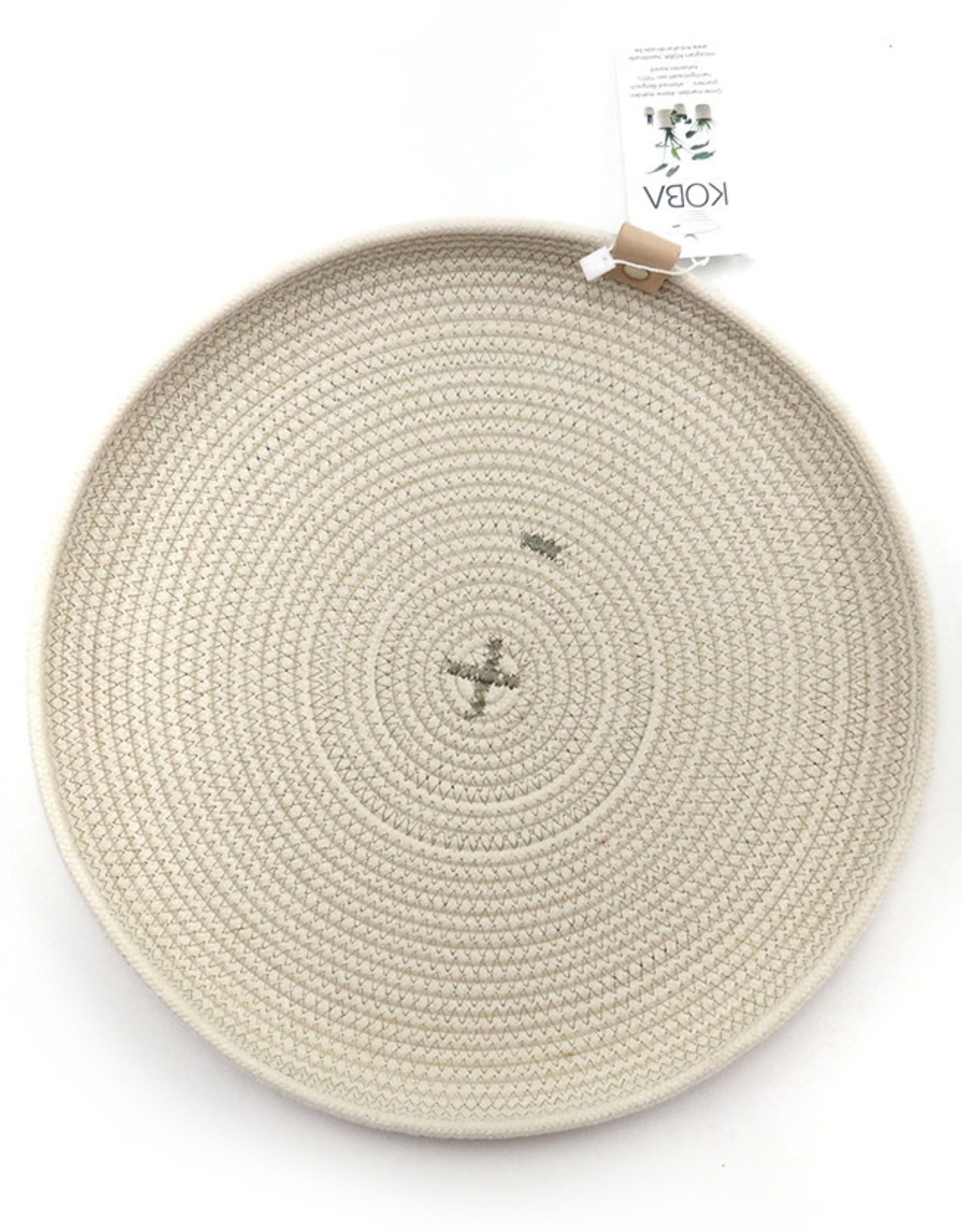Koba Handmade Plate Round Low-boho 35cm