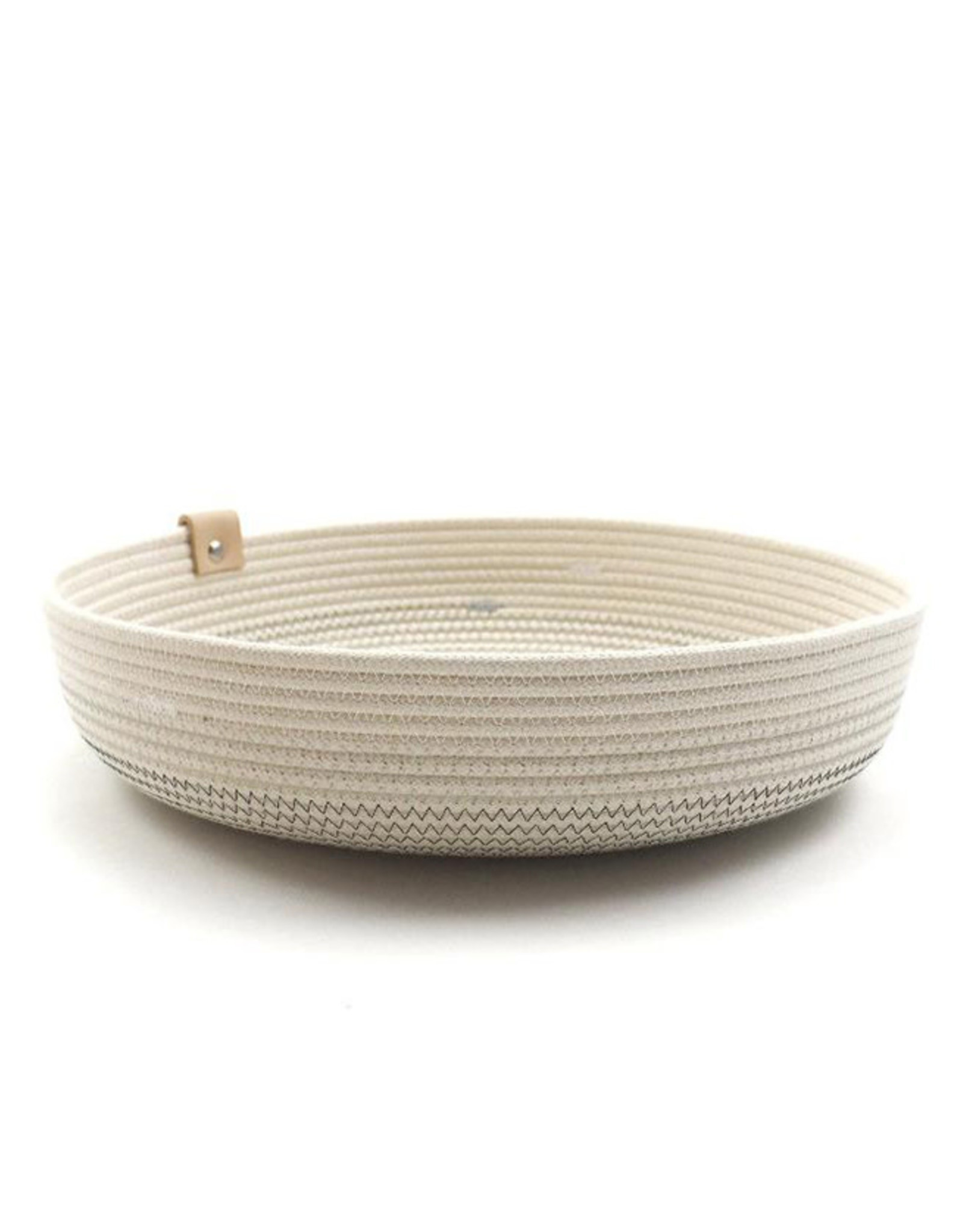 Koba Handmade Bowl Large Low-shades of grey 30x7cm