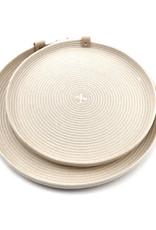 Koba Handmade Plate Round Low-ecru 35cm