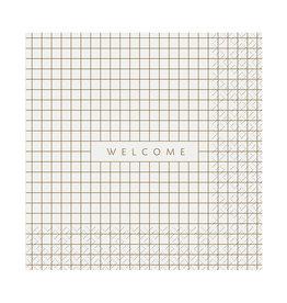 Servet Welcome 33x33cm-white