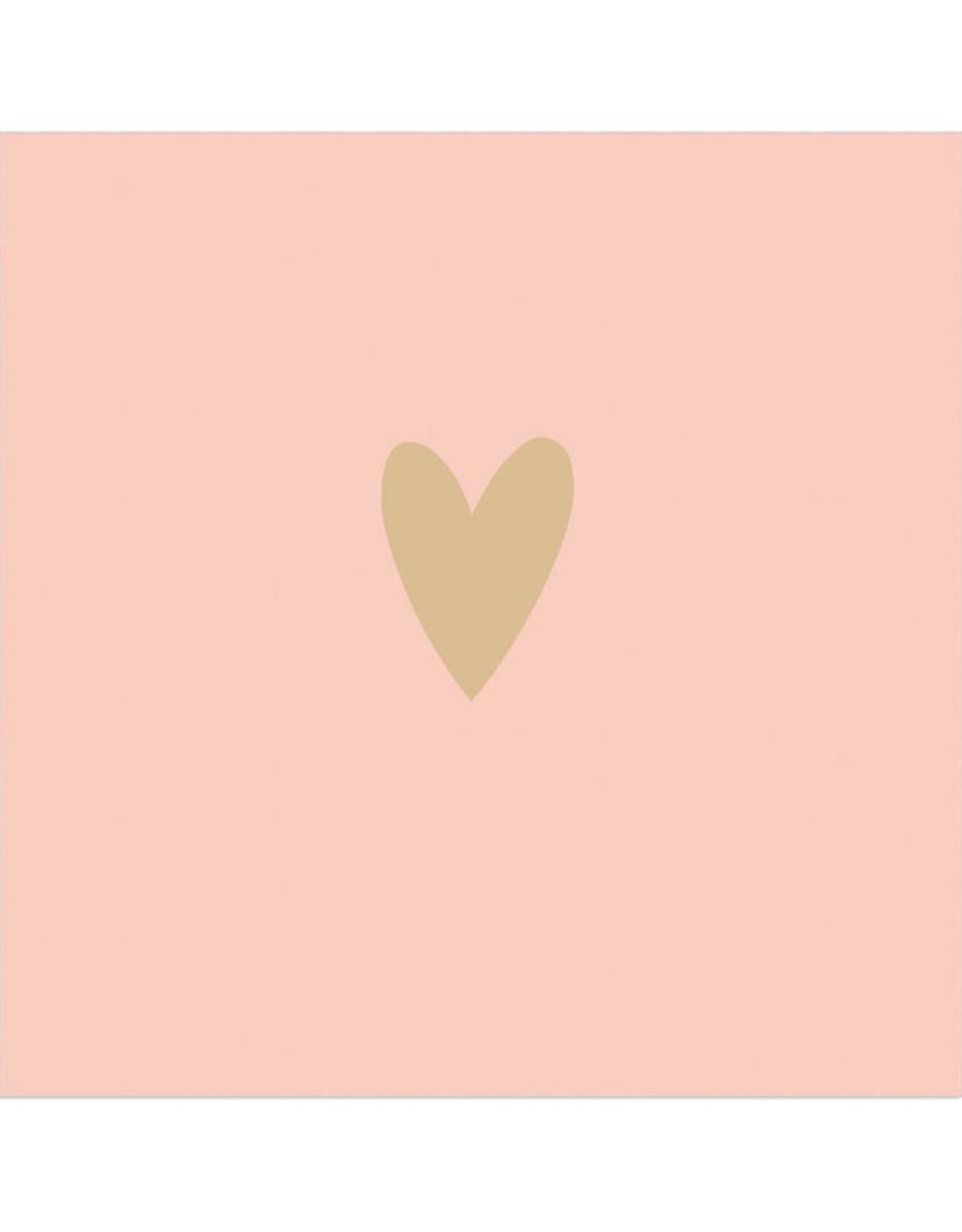 Servet Heart 33x33cm-apricot/gold