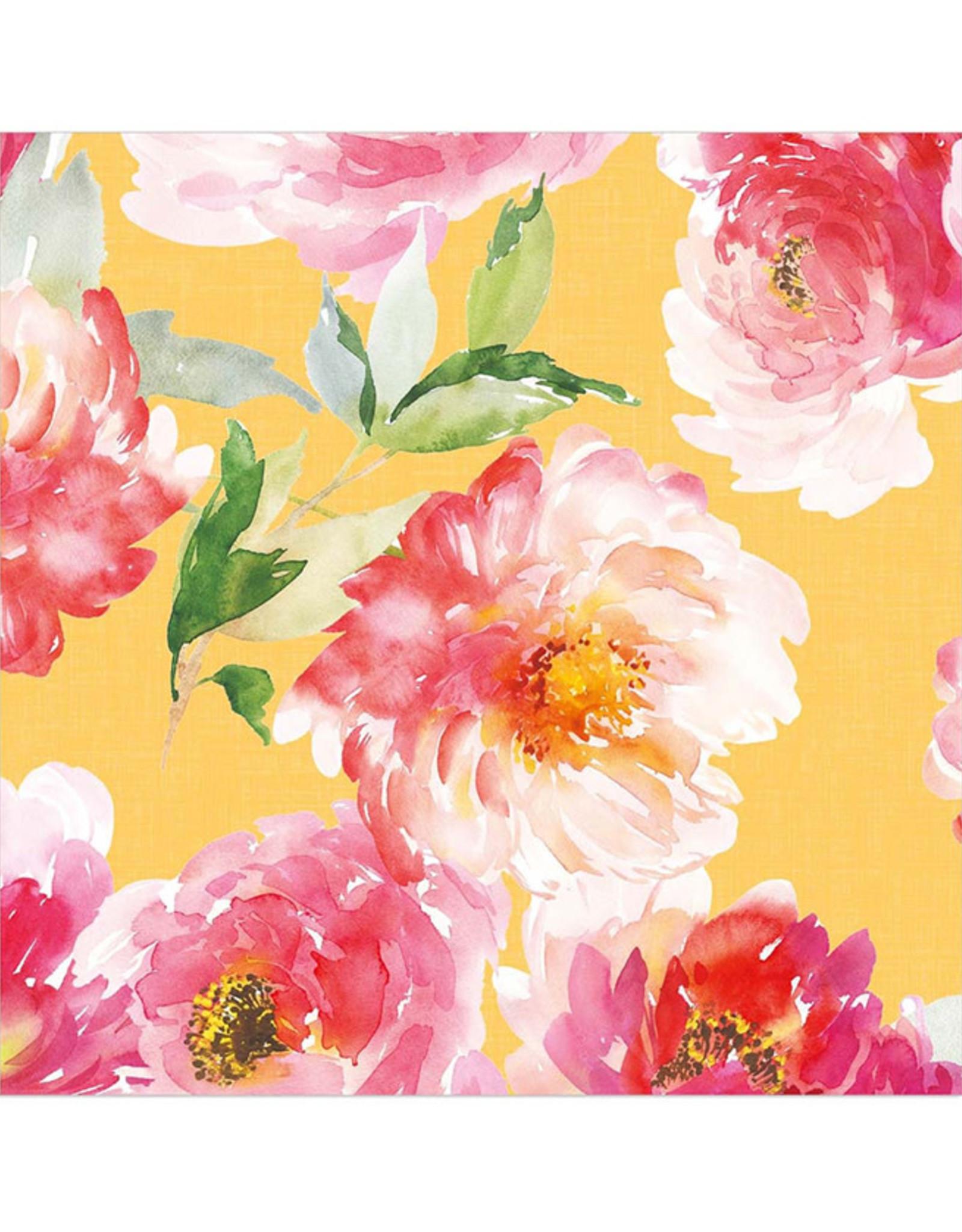 Servet Bloom 33x33cm-yellow